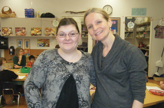 Jordyn McGregor (left), with teacher Tina Crookshank, is passionate about her role as an Early Childhood Educator.