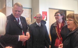 Nanaimo Mayor Bill McKay talks to Diane, Dave and Veronica