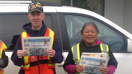 Ryan Casey and Lorraine Dick receive employment support through Williams Lake Association for Community Living (WLACL).