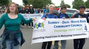 Members of the Surrey Delta White Rock Community Council at the Ladner May Days Parade.