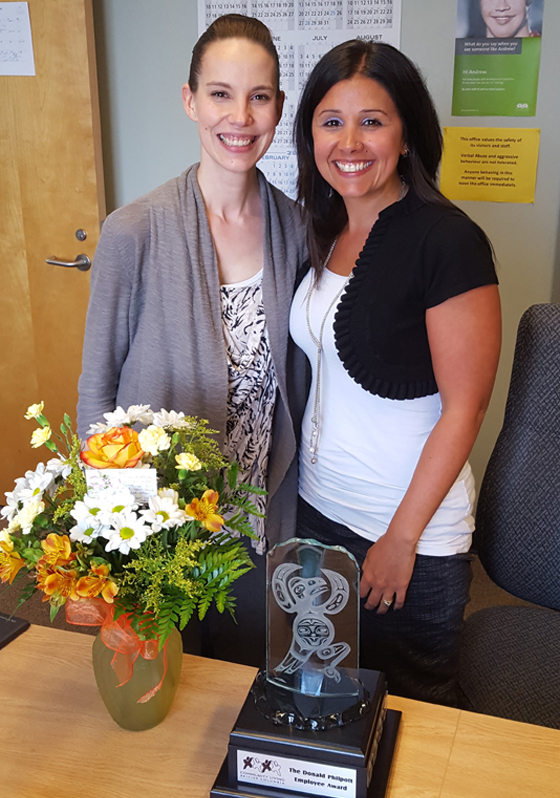 Making a Difference: Nancy Thibeau was nominated for CLBC's annual staff recognition award by her colleague Jennifer Keys.
